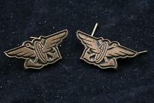 Hungary Hungarian Army Railway Railroad Collar Tab Subdued Pair of 2 Badge Pin