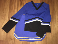 Glittery Cheerleading Uniform Dance Wear Ladies Training Show Outfit Performance