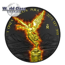 2015 BURNING Libertad Black Ruthenium 1 oz Silver Coin Mexico