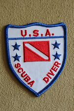 """TRIDENT """"USA SCUBA DIVER"""" EMBROIDERED PATCH"""