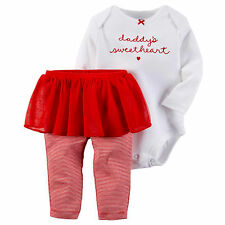 NWT Carter's Daddy's Sweetheart Valentine's Tutu Outfit 2PC 12 Months Baby Girl