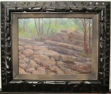 ANTIQUE 1916 WW1 AMERICAN IMPRESSIONIST PAINTING NJ BROOK HOLLYWOOD CA DIRECTOR