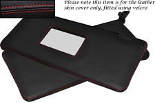 RED STITCHING FITS LANCIA DELTA 86-94  2X SUN VISORS LEATHER COVER ONLY