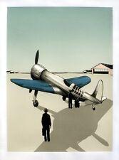 El aviador Howard Hughes inspirado en edición limitada de impresión de pantalla Justin Santora