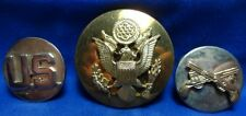 Vietnam War Army M.P. Military Police Enlisted Collar Disc Set Lot Of 3