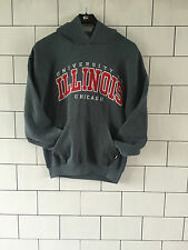 USA URBAN VINTAGE GREY ILLINOIS CHICAGO PRO/COLLEGE SWEATSHIRT SWEATER HOODIE M