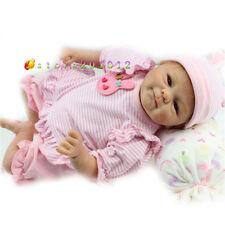 "17""Realistic Reborn Baby Doll Lovely Newborn Baby Doll Soft Silicone Handmade"