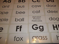 104 laminated Alphabet Phonics Word flash cards.  Teach and learn the Alphabet.
