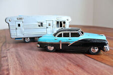 Vintage SSS Tin Sedan & Camper - Japan, Trailer, Airstream, S.S.S., Ford, Chevy