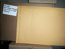 "5 qty X Large size 7 Self Seal Kraft Bubble Mailers Padded Envelopes 14"".x 20"""