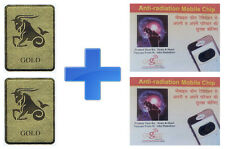 2 Pcs. Anti Radiation EMR Gold Sticker/Patch + 2 Pcs. Cogent Anti Radiation Chip