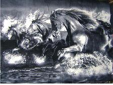 Wilde Horses Running Huge Blanket Towel 54x68 Beach Blanket