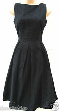 SIZE 10 50's STYLE BRODERIE ANGLAIS FULL SKIRT SUMMER DRESS LINED # US 6 EU 38
