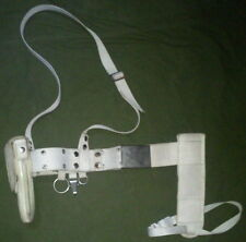 SERBIA MILITARY POLICE WHITE BELT WITH HOLSTER FOR M57 OR TT-33
