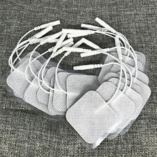 20 Replacement Pads for Massagers/Tens Units Electrode Pads 2x2 Inch White Cloth