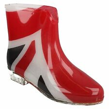 LADIES X1195 WATERPROOF UNION FLAG PRINT RAIN WELLIES WELLINGTON ANKLE BOOTS