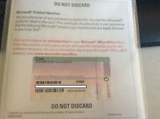 Microsoft Office Home and Student 2013 - 1 User/PC License & Product Key NEW!