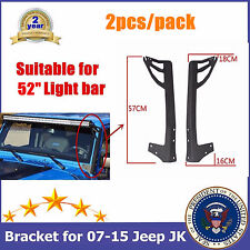 TOP 52inch LED LIGHT BAR WINDSHIELD MOUNTING BRACKET FOR 07-16 JK JEEP WRANGLER