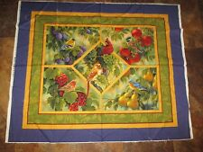 Vintage SONG BIRD SANCTUARY MINI QUILT/WALL HANGING Fabric Panel -1990's
