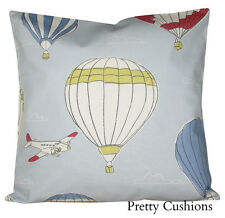 John Lewis Sky High Hot Air Balloon Blue Cushion Cover 16''