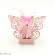 10 Scatole porta bon bon Farfalla Rosa : Decorazione Nozze / Battesimo REF : W3