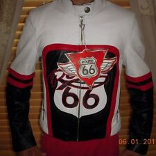 NEW Route 66 Bike/Racing/Motorcycle Stylish Leather Jacket S Unisex