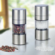 Manual Stainless Steel Salt Pepper Mill Grinder Muller Kitchen Tool Portable