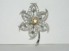 Vintage Sarah Coventry Silver Tone Evening Star 1966 Brooch A1