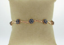 """Natural Blue Sapphires 5.60TCW Solid 14K Yellow Gold Bracelet 7"""""""