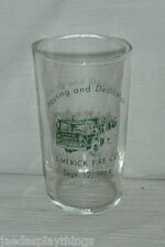 "Fire Engine Glass Limerick 1964 Cup Small 4"" Green"