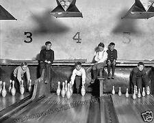 Photograph Vintage Bowling Pin Setter Boys 1909 New Jersey  11x14