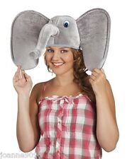 New Mens Ladies African Elephant Jungle Zoo Animal Fancy Dress Costume Funny Hat
