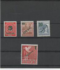 ALLEMAGNE.BERLIN 1949 TIMBRES NEUF.SURCHARGE VERTE .SIGNE BPP SCHLEGEL N°47 a 50