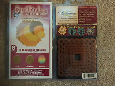 SPELLBINDERS Nestabilities 6 Scalloped Octagons & 6 Squares Die Cuts Emboss NEW
