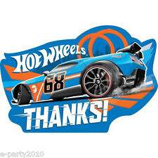 HOT WHEELS Wild Racer THANK YOU NOTES (8) ~ Birthday Party Supplies Stationery