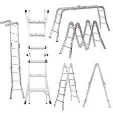 15.1Ft Multi-purpose Telescopic Aluminum Ladder Adjustable Folding Extensio