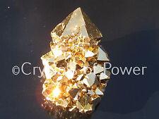 ONE POWERFUL STARBRARY PURE 24KT GOLD AURA SPIRIT CACTUS QUARTZ CRYSTAL POINT!
