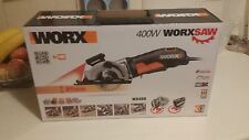 Worx 400W Worxsaw Circular Plunge Saw Brand new, 3x cutting blades included