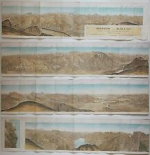 1881 RUNDSICHT VOM ALVIER Simon Schweizer Alpen St. Gallen Appenzell Svizzera