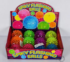 12 spiky flashing balls birthday Party Bag sensory stress relief toy autism ADHD