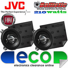 Fiat Punto 99-05 JVC 10 cm 210 Watts 2 Way Car Speakers & Sound Deadening