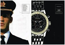 Publicité Advertising 1998 (2 pages) La Montre Breitling Montbrillant Navitimer