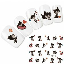 Tattoo Nail Art Aufkleber Cat Cute Katze Nagel Sticker Neu!