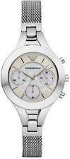 Armani Womens AR7389 Steel Mesh Chonograph Watch COA Next Day Delivery RRP £279