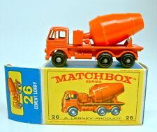 Matchbox RW 26B Foden Cement Mixer schwarze Räder späte E-Box top