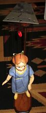 """1950's Peter Pan's """"Wendy"""" Marionette Peter Puppet W-Custom Wooden Stand"""