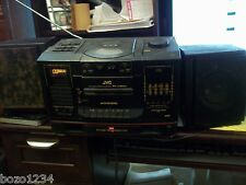 JVC PC-X200 PORTABLE CD CASSETTE AM FM RADIO STEREO SYSTEM w/ PC-BX200 SPEAKERS