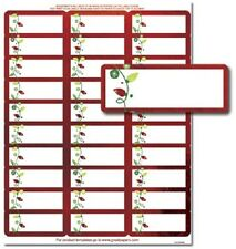 String Of Lights Red Foil Christmas Card Return Address Labels - 120pk