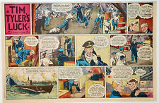Tim Tyler's Luck by Young - WWII - half-page color Sunday comic - April 18, 1943