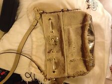 Coach Poppy GOLD Sequin spotlight Cinch Drawstring Bag 17906 crossbody purse